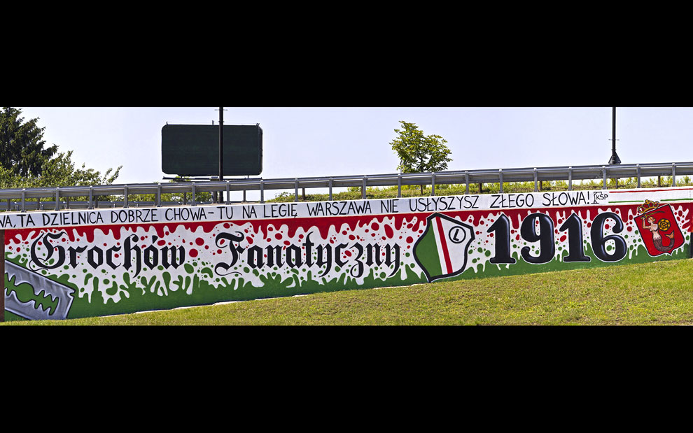 Grochów Fanatyczny - panorama z graffiti - 18.06.2012