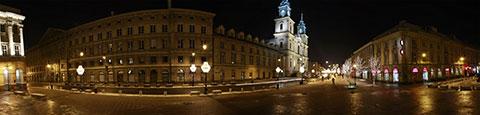 Krakowskie Przedmieście - panorama