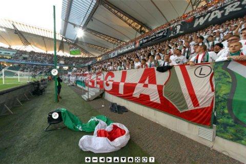 Wirtualna wycieczka po stadionie przy Łazienkowskiej podczas meczu z Wisłą - 02.10.2011