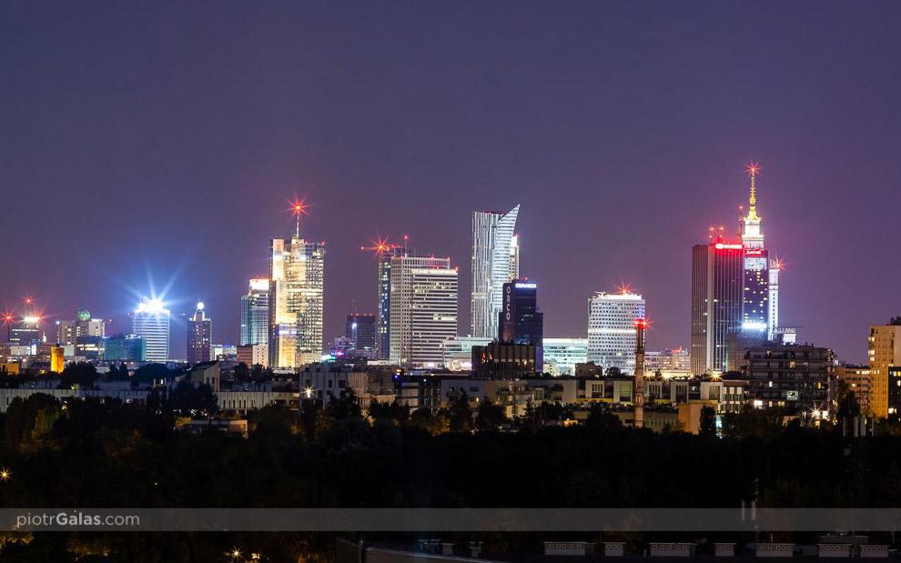 Woronicza Qbik - panorama nocą